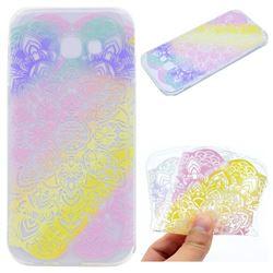 Mandala Rainbow Flower Super Clear Soft TPU Back Cover for Samsung Galaxy A3 2017 A320