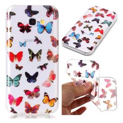 Colorful Butterfly Super Clear Soft TPU Back Cover for Samsung Galaxy A3 2017 A320