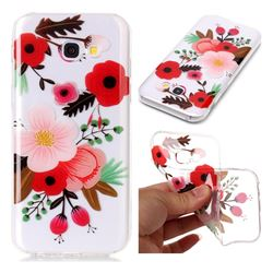 Painting Flowers Super Clear Soft TPU Back Cover for Samsung Galaxy A3 2017 A320