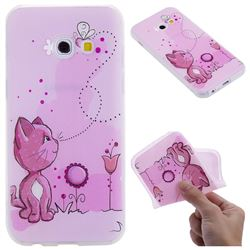 Cat and Bee 3D Relief Matte Soft TPU Back Cover for Samsung Galaxy A3 2017 A320