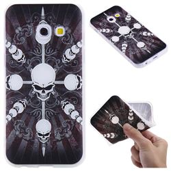 Compass Skulls 3D Relief Matte Soft TPU Back Cover for Samsung Galaxy A3 2017 A320