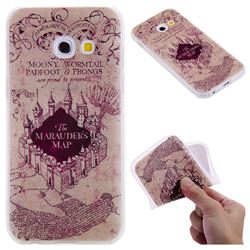 Castle The Marauders Map 3D Relief Matte Soft TPU Back Cover for Samsung Galaxy A3 2017 A320