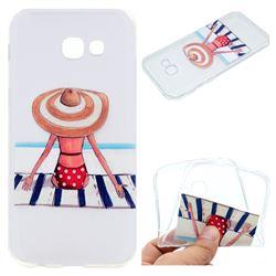 Beach Chair Girl Super Clear Soft TPU Back Cover for Samsung Galaxy A3 2017 A320