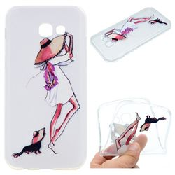 Pet Girl Super Clear Soft TPU Back Cover for Samsung Galaxy A3 2017 A320