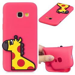 Yellow Giraffe Soft 3D Silicone Case for Samsung Galaxy A3 2017 A320