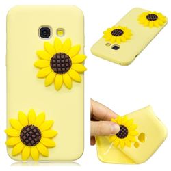 Yellow Sunflower Soft 3D Silicone Case for Samsung Galaxy A3 2017 A320
