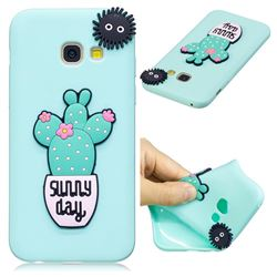 Cactus Flower Soft 3D Silicone Case for Samsung Galaxy A3 2017 A320