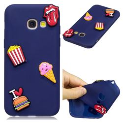 I Love Hamburger Soft 3D Silicone Case for Samsung Galaxy A3 2017 A320