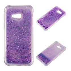 Dynamic Liquid Glitter Sand Quicksand Star TPU Case for Samsung Galaxy A3 2017 A320 - Purple