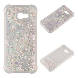 Dynamic Liquid Glitter Sand Quicksand Star TPU Case for Samsung Galaxy A3 2017 A320 - Silver