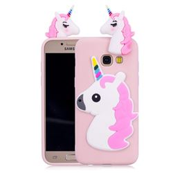 Unicorn Soft 3D Silicone Case for Samsung Galaxy A3 2017 A320 - Pink