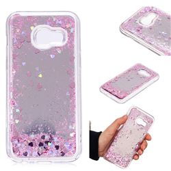 Glitter Sand Mirror Quicksand Dynamic Liquid Star TPU Case for Samsung Galaxy A3 2017 A320 - Cherry Pink