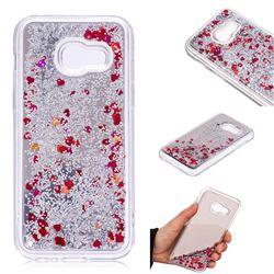 Glitter Sand Mirror Quicksand Dynamic Liquid Star TPU Case for Samsung Galaxy A3 2017 A320 - Red