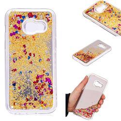 Glitter Sand Mirror Quicksand Dynamic Liquid Star TPU Case for Samsung Galaxy A3 2017 A320 - Yellow