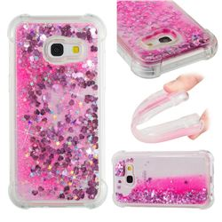 Dynamic Liquid Glitter Sand Quicksand TPU Case for Samsung Galaxy A3 2017 A320 - Pink Love Heart