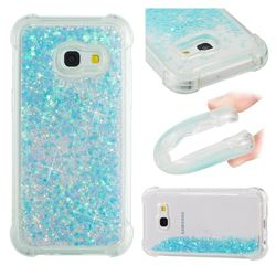 Dynamic Liquid Glitter Sand Quicksand TPU Case for Samsung Galaxy A3 2017 A320 - Silver Blue Star