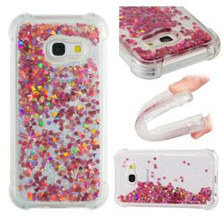 Dynamic Liquid Glitter Sand Quicksand TPU Case for Samsung Galaxy A3 2017 A320 - Rose Gold Love Heart