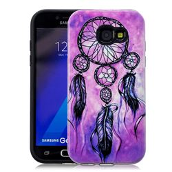 Starry Wind Chimes Pattern 2 in 1 PC + TPU Glossy Embossed Back Cover for Samsung Galaxy A3 2017 A320