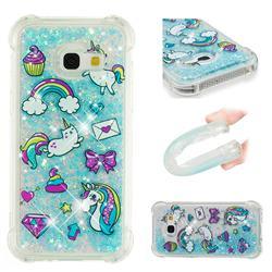 Fashion Unicorn Dynamic Liquid Glitter Sand Quicksand Star TPU Case for Samsung Galaxy A3 2017 A320