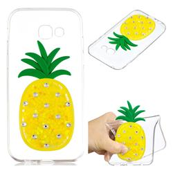 Yellow Pineapple Liquid Quicksand Soft 3D Cartoon Case for Samsung Galaxy A3 2017 A320