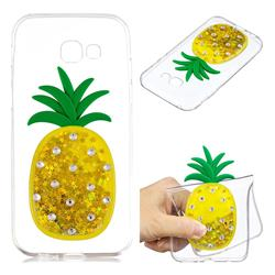 Gold Pineapple Liquid Quicksand Soft 3D Cartoon Case for Samsung Galaxy A3 2017 A320