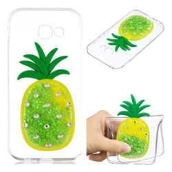 Green Pineapple Liquid Quicksand Soft 3D Cartoon Case for Samsung Galaxy A3 2017 A320