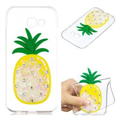 White Pineapple Liquid Quicksand Soft 3D Cartoon Case for Samsung Galaxy A3 2017 A320