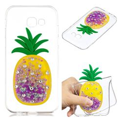 Purple Pineapple Liquid Quicksand Soft 3D Cartoon Case for Samsung Galaxy A3 2017 A320