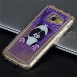 Naughty Panda Glassy Glitter Quicksand Dynamic Liquid Soft Phone Case for Samsung Galaxy A3 2017 A320