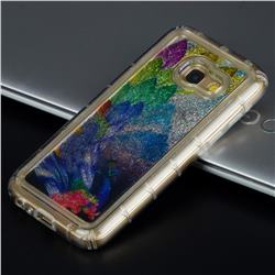 Phoenix Glassy Glitter Quicksand Dynamic Liquid Soft Phone Case for Samsung Galaxy A3 2017 A320