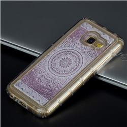 Mandala Glassy Glitter Quicksand Dynamic Liquid Soft Phone Case for Samsung Galaxy A3 2017 A320