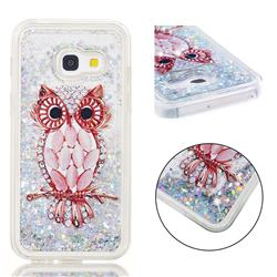Seashell Owl Dynamic Liquid Glitter Quicksand Soft TPU Case for Samsung Galaxy A3 2017 A320