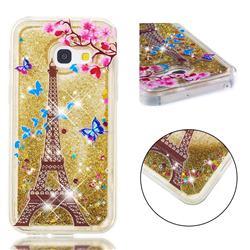 Golden Tower Dynamic Liquid Glitter Quicksand Soft TPU Case for Samsung Galaxy A3 2017 A320