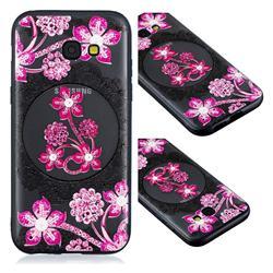 Daffodil Lace Diamond Flower Soft TPU Back Cover for Samsung Galaxy A3 2017 A320