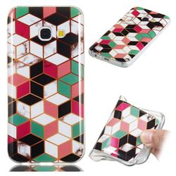 Three-dimensional Square Soft TPU Marble Pattern Phone Case for Samsung Galaxy A3 2017 A320