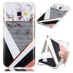 Pinstripe Soft TPU Marble Pattern Phone Case for Samsung Galaxy A3 2017 A320