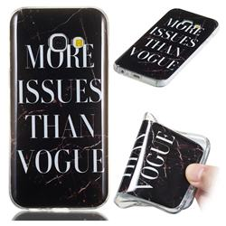 Stylish Black Soft TPU Marble Pattern Phone Case for Samsung Galaxy A3 2017 A320
