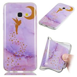 Elf Purple Soft TPU Marble Pattern Phone Case for Samsung Galaxy A3 2017 A320