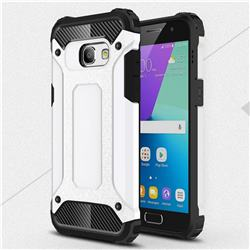 King Kong Armor Premium Shockproof Dual Layer Rugged Hard Cover for Samsung Galaxy A3 2017 A320 - White