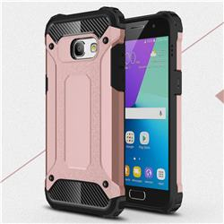 King Kong Armor Premium Shockproof Dual Layer Rugged Hard Cover for Samsung Galaxy A3 2017 A320 - Rose Gold