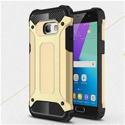 King Kong Armor Premium Shockproof Dual Layer Rugged Hard Cover for Samsung Galaxy A3 2017 A320 - Champagne Gold