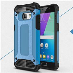 King Kong Armor Premium Shockproof Dual Layer Rugged Hard Cover for Samsung Galaxy A3 2017 A320 - Sky Blue