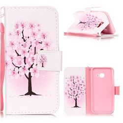 Peach Flower Leather Wallet Phone Case for Samsung Galaxy A3 2017 A320