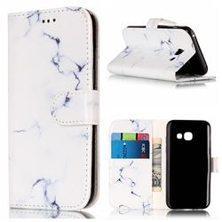 Soft White Marble PU Leather Wallet Case for Samsung Galaxy A3 2017 A320