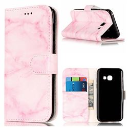 Pink Marble PU Leather Wallet Case for Samsung Galaxy A3 2017 A320