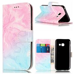 Pink Green Marble PU Leather Wallet Case for Samsung Galaxy A3 2017 A320