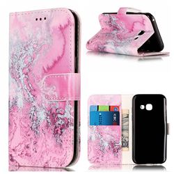 Pink Seawater PU Leather Wallet Case for Samsung Galaxy A3 2017 A320