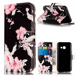 Azalea Flower PU Leather Wallet Case for Samsung Galaxy A3 2017 A320