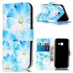 Orchid Flower PU Leather Wallet Case for Samsung Galaxy A3 2017 A320