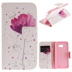 Purple Orchid PU Leather Wallet Case for Samsung Galaxy A3 2017 A320
